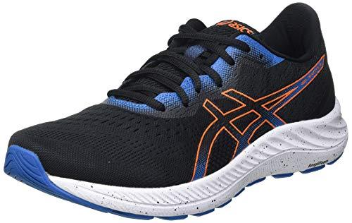 Asics Gel-Excite 8, Road Running Shoe Hombre, Black/Marigold Orange, 44 EU