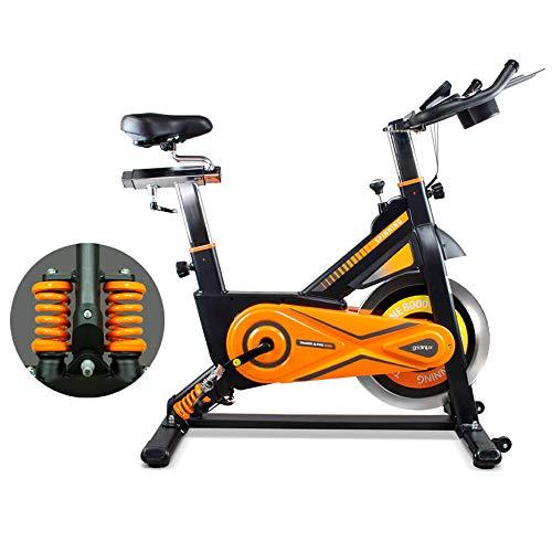gridinlux. Trainer Alpine 8500. Bicicleta estática Ciclo Indoor Spinning. Volante de Inercia 25 kg, Nivel Avanzado, Sistema de Absorción de Impactos, Pantalla LCD, Fitness