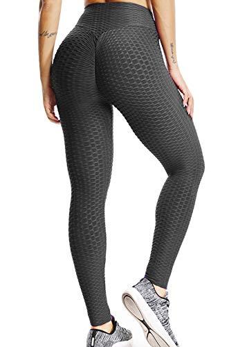 FITTOO Leggings Push Up Mujer Mallas Pantalones Deportivos Alta Cintura Elásticos Yoga FitnessNegroM