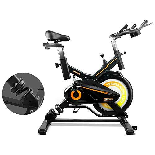 gridinlux. Trainer Alpine 7500. Bicicleta estática Spinning. Volante de Inercia 15 kg, Nivel Avanzado, Sistema de Absorción de Impactos, Pantalla LCD, Fitness