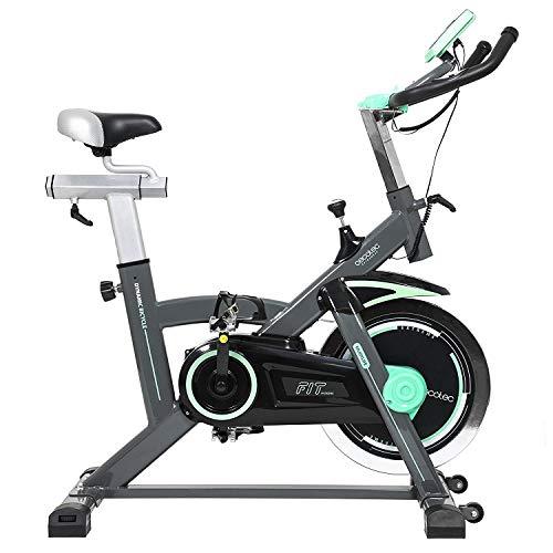 Cecotec Bicicleta Spinning Estática con Volante de Inercia de 20 Kg Extreme 20. Sistema Silence Fit, Pulsómetro, Manillar y Sillín Regulable, Pantalla LCD, Ruedas, Peso máximo 120 Kg
