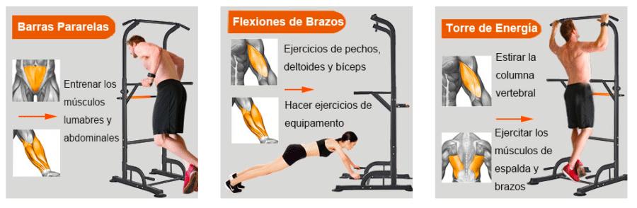 mejores ejercicios torre musculacion en casa